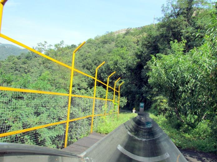 Toboggan ride at Mutianyu section of Great Wall of China