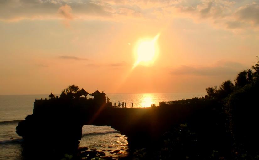 Enjoying Sunset at Tanah Lot, Bali,Indonesia