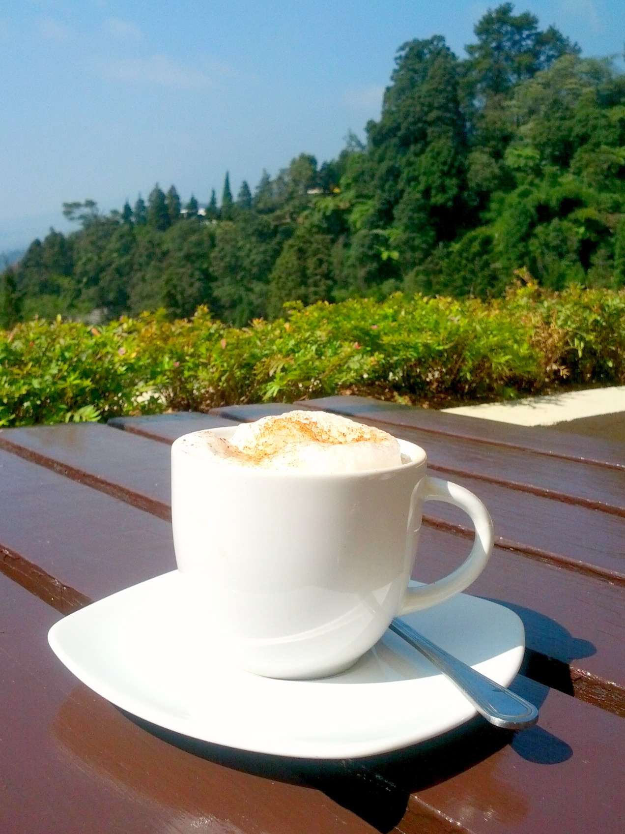 Cappuccino at Puncak Pass Restaurant