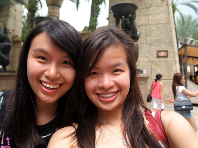 My Sister and I at Universal Studio Singapore