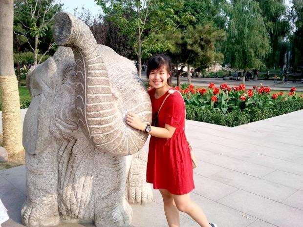 Sharon Loh in Beijing Zoo