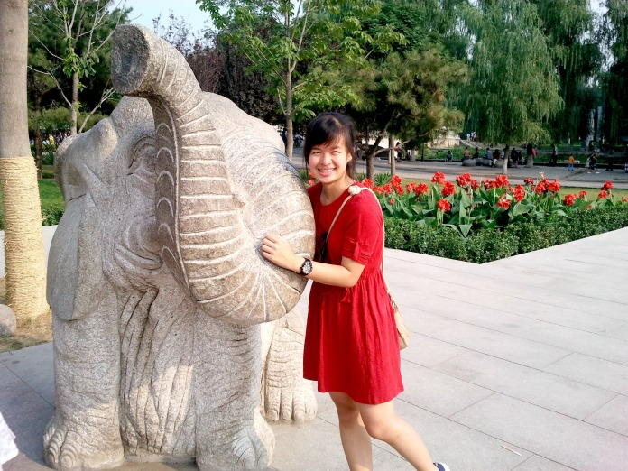 Sharon Loh in Beijing Zoo