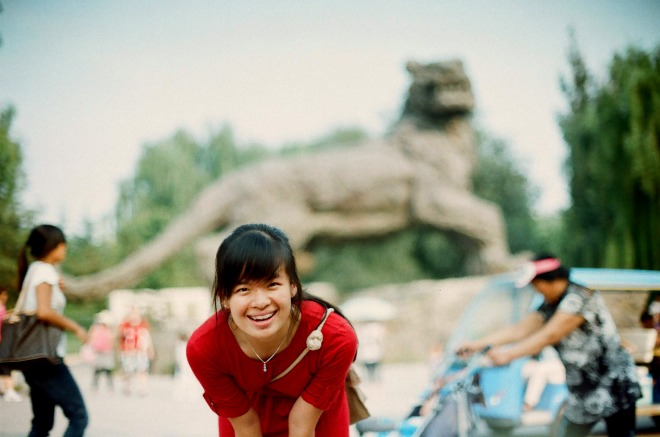 Sharon in Beijing Zoo