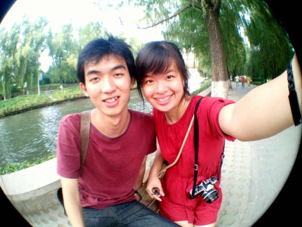 Sharon and Fredric in Beijing Zoo