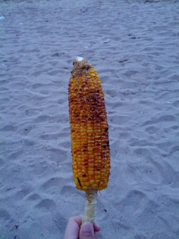 Grilled Corn at Sanur Beach