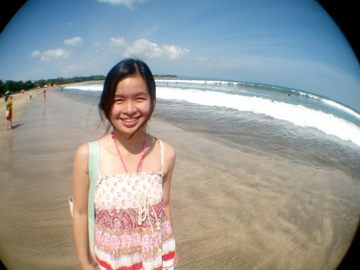 Sharon at Kuta Beach