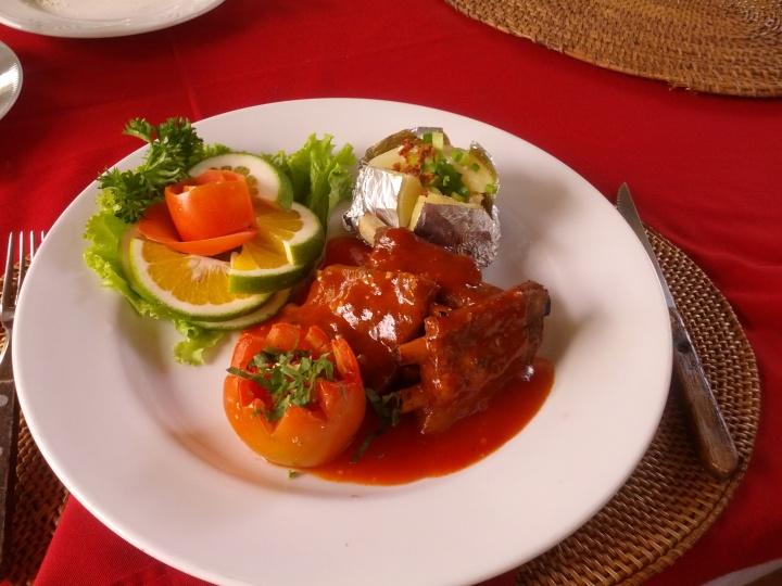 Cafe Wayan 's Pork Spare Ribs BBQ