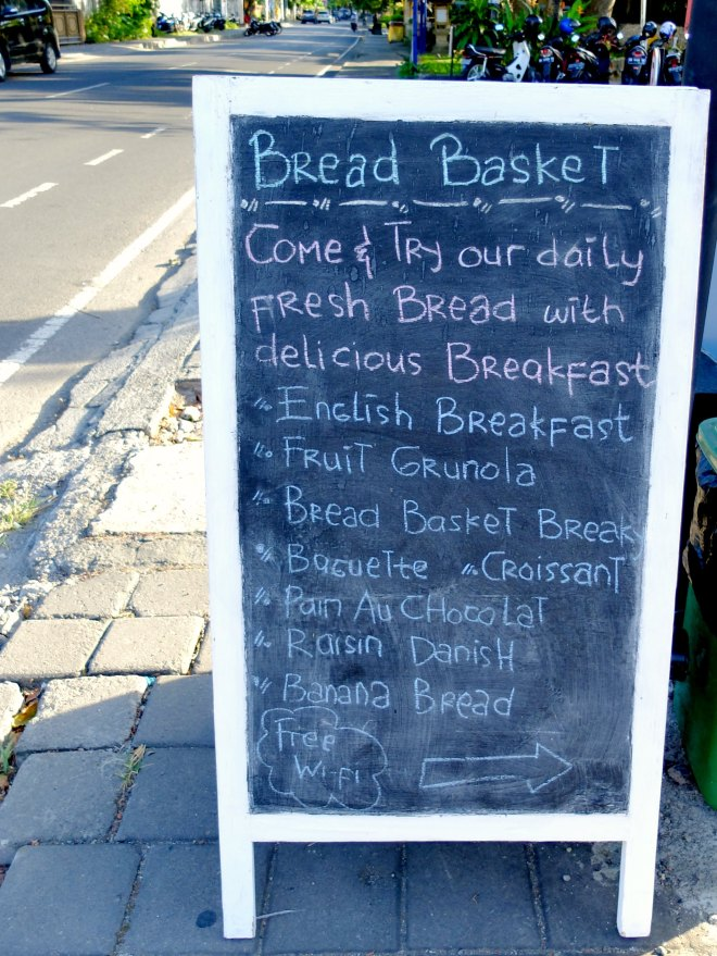 Bread Basket Menu