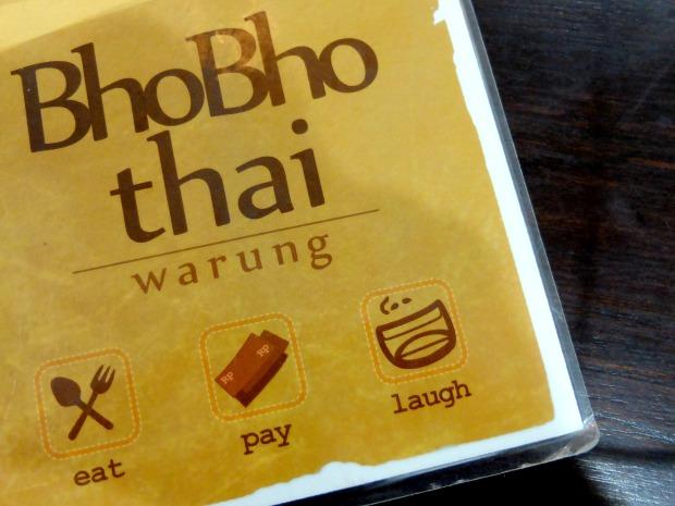 Warung Bho Bho Thai Menu