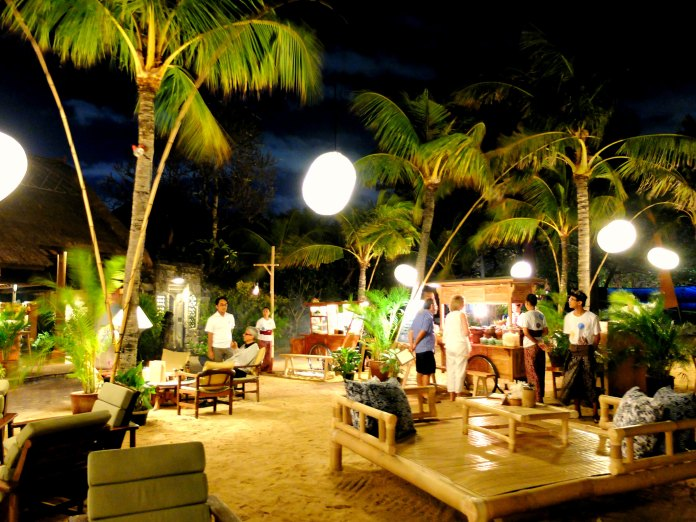 Dinner at Sanur Beach