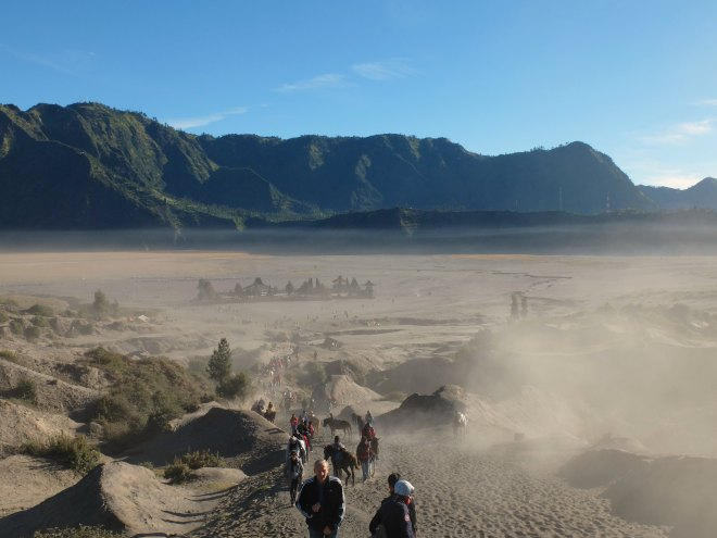 Sand to Mount Bromo Crater
