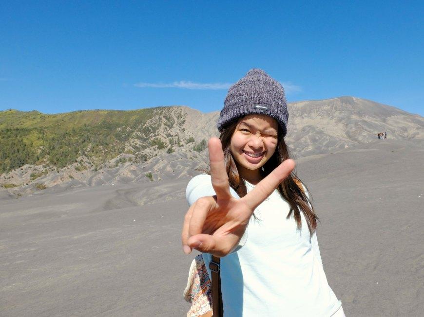 Sharon at Mount Bromo
