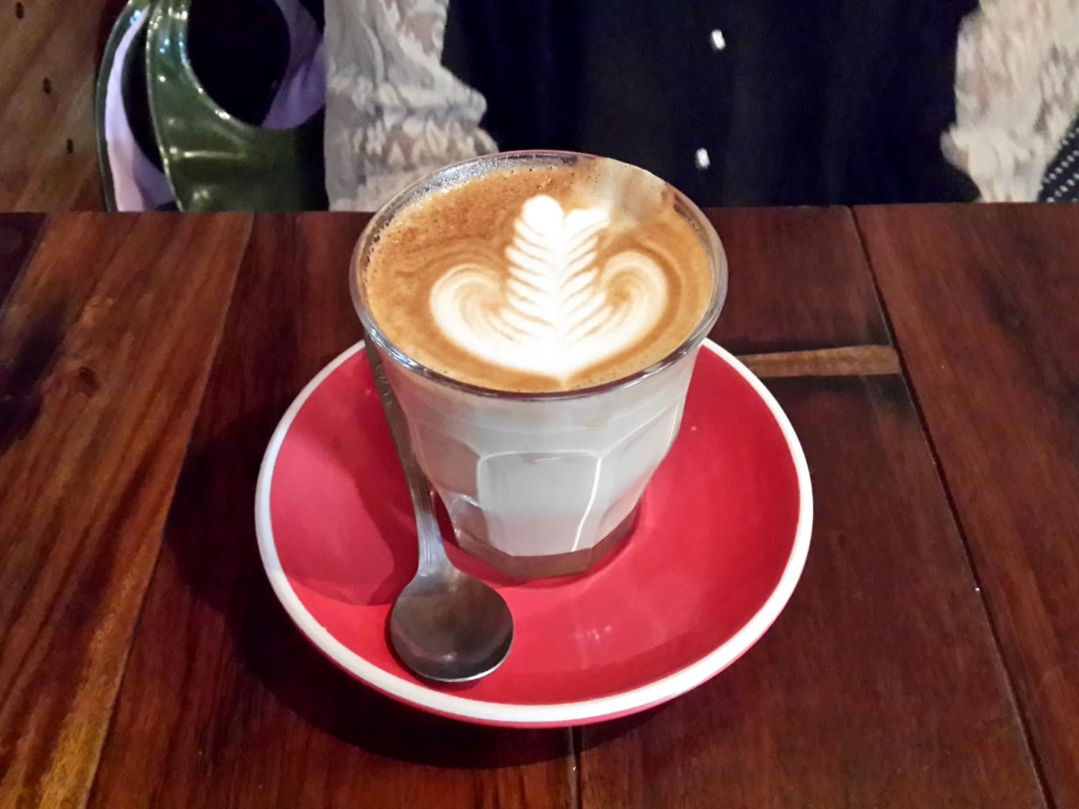 Latte at Revolver Espresso