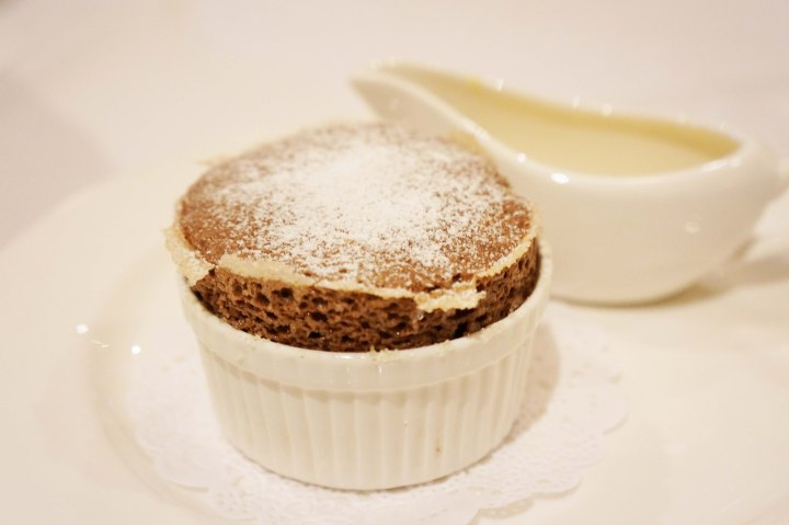 Chocolate Souffle at Jubilare