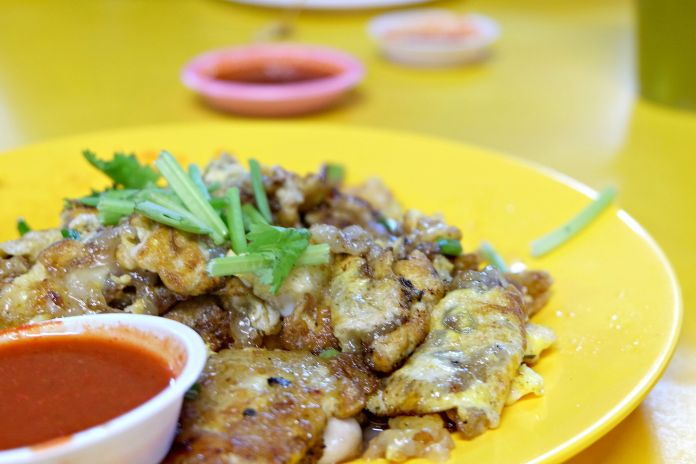 Oh Jian Oyster Omelette