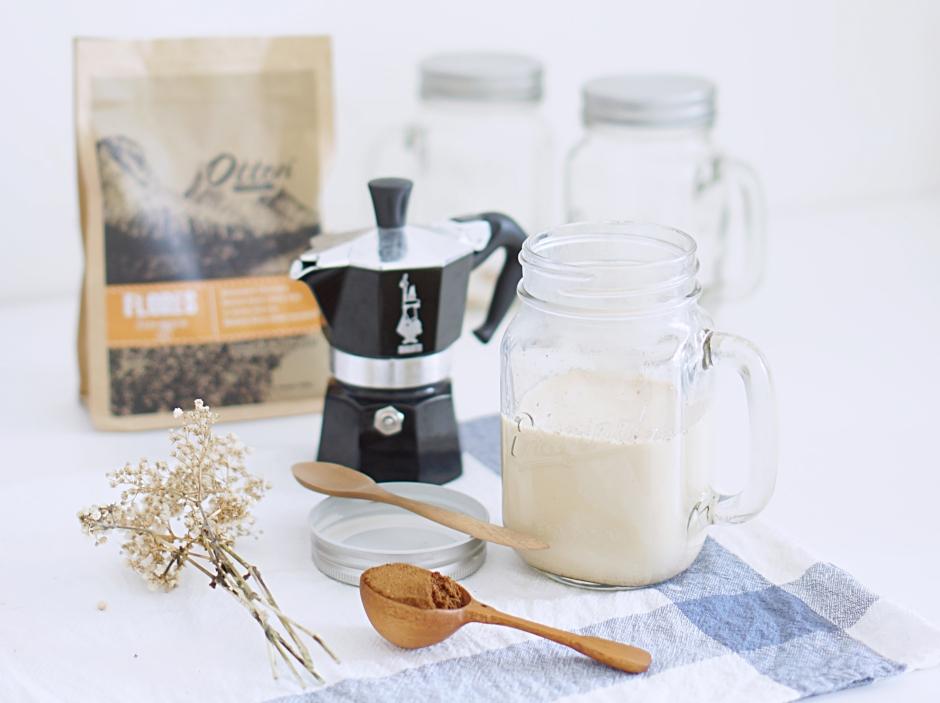 Home made latte using Bialetti Moka Pot