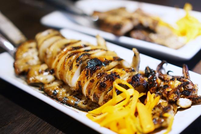 filipino food Inihaw na Pusit