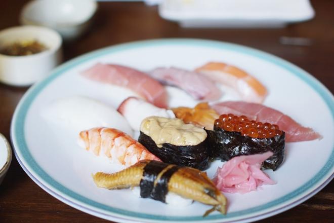 Sushi at Tsumura Sushi Bar, Manila
