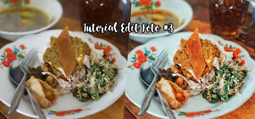 tutorial edit foto makanan