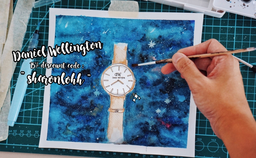 It's My Birthday! – Belajar Watercolor + Daniel Wellington Valentine's Day Promo